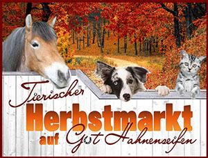 Tierischer Herbstmarkt auf Gut Hahnenseifen